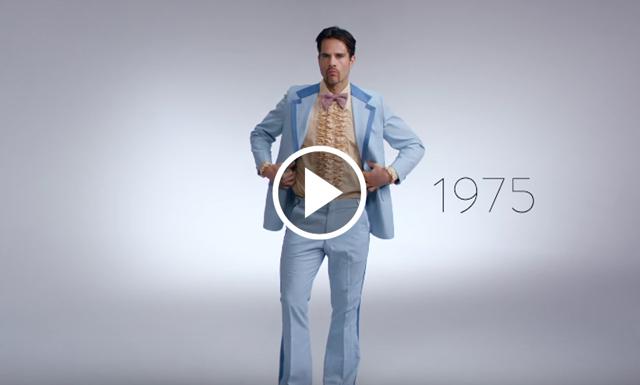 Se filmen: 100 år av mäns nyårsstilar – på 3 minuter