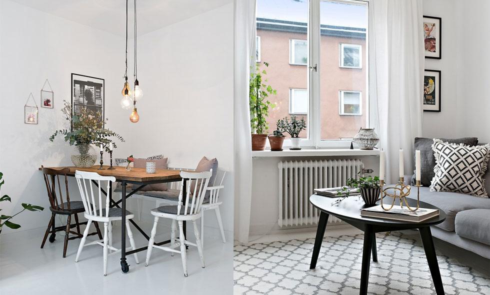 Inspireras av denna välplanerade och underbara 2:a på Södermalm