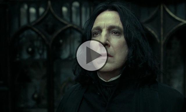 Klippet som visar att Snape var den riktige hjälten i Harry Potter
