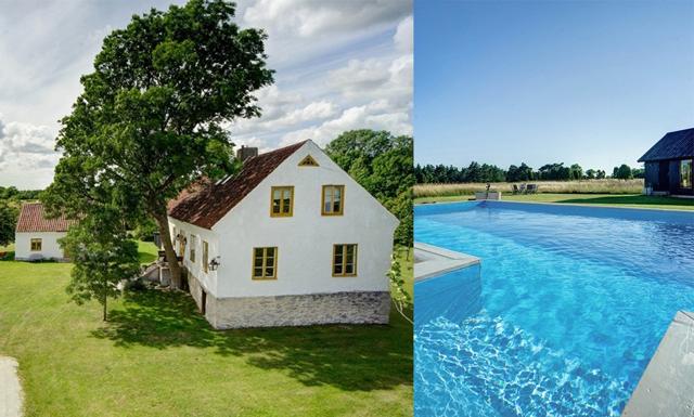 Dröm dig bort till det här sagolika sommarhuset i kalksten på Gotland