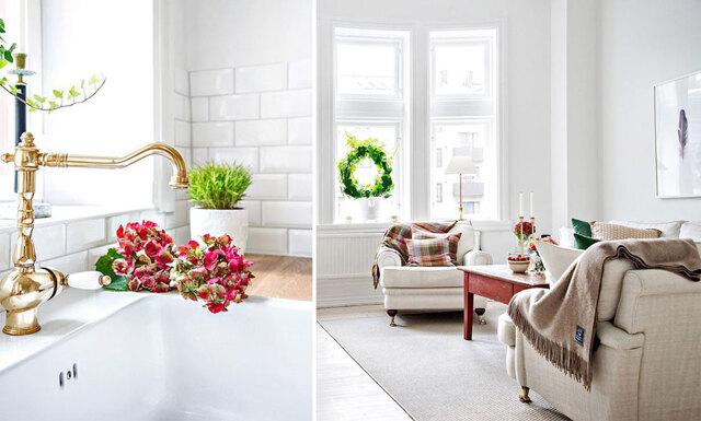 Kolla in köket i denna underbara lägenhet i Malmö