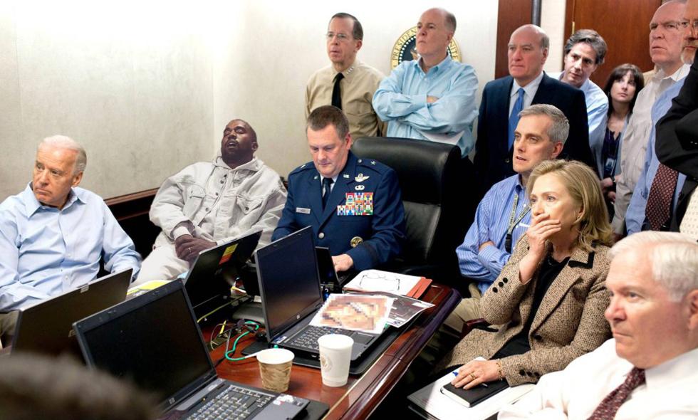 Kanye West somnade i en affär – då gick internet igång med Photoshop