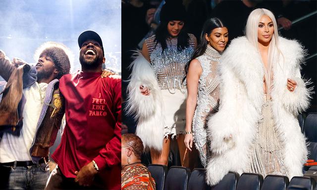 Bästa bilderna från Kanyes visning – Kardashian/Jenner-familjen glänste i publiken