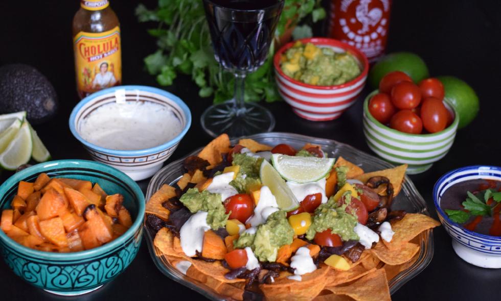Veganska lyxtacos med mango-guacamole och chipotlesvamp