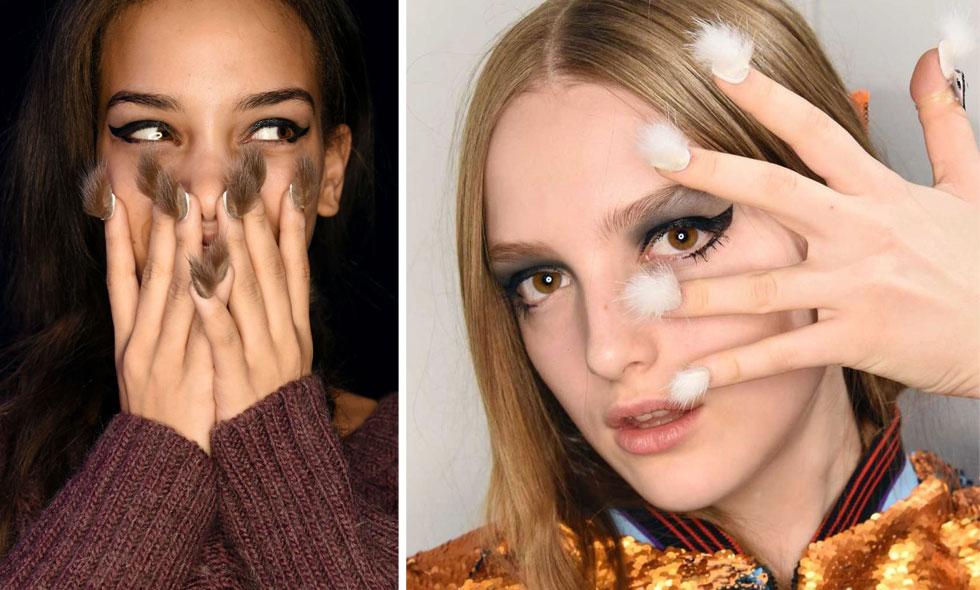 Senaste trenden – våren 2016 ska du har hår på naglarna