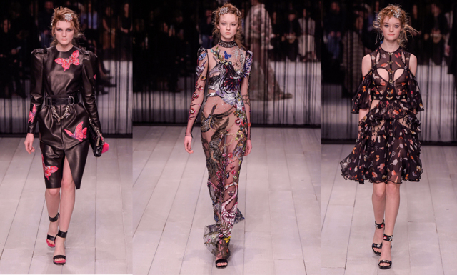 Alexander McQueens höst- och vinterkollektion bjuder på sagolika klänningar