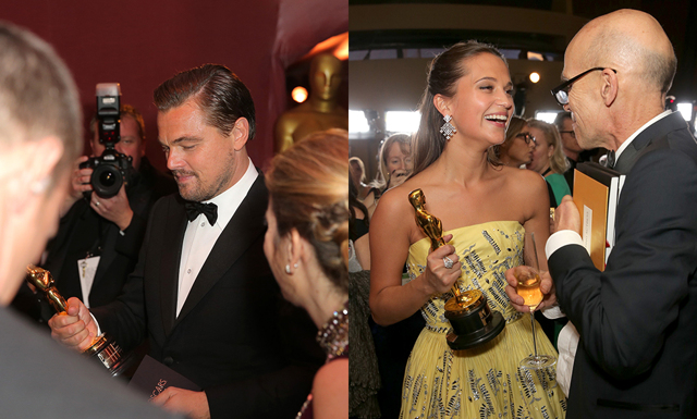 Bakom kulisserna - kändisarnas privata bilder från Oscarsgalan