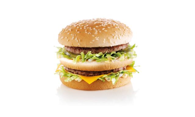 Skulle du ha en Big Mac på huvudet i skidbacken?