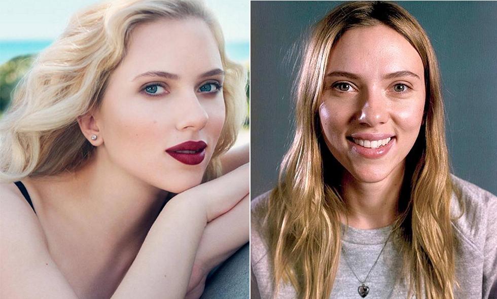 Scarlett Johansson utan smink