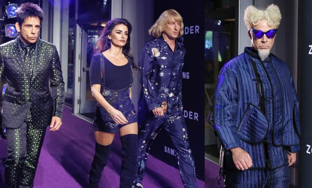 Modevisning och kändisar på Zoolander 2 premiären