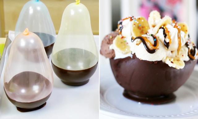 Pimpa helgens dessert med hemgjorda chokladskålar – på 5 minuter
