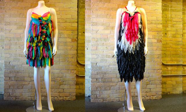 De här klänningarna är gjorda av ett material – du kan aldrig gissa vilket