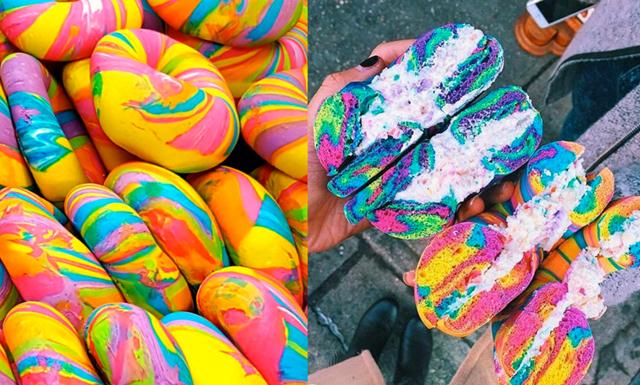 Regnbågsbageln har tagit över Instagram och vi skulle gärna smaka en!