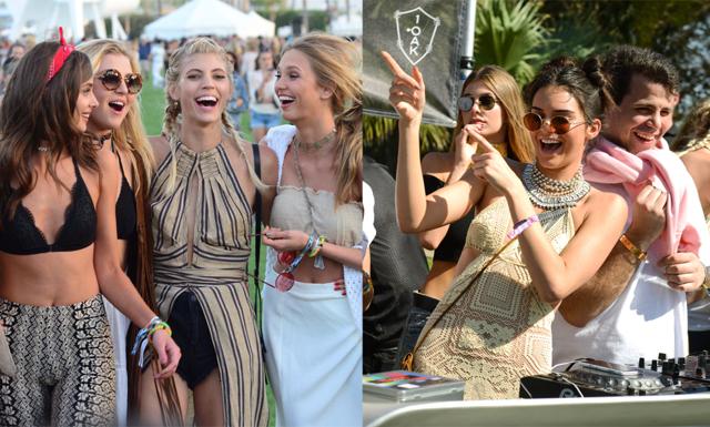 Spana in kändisarnas streetstyle från första helgen av Coachella