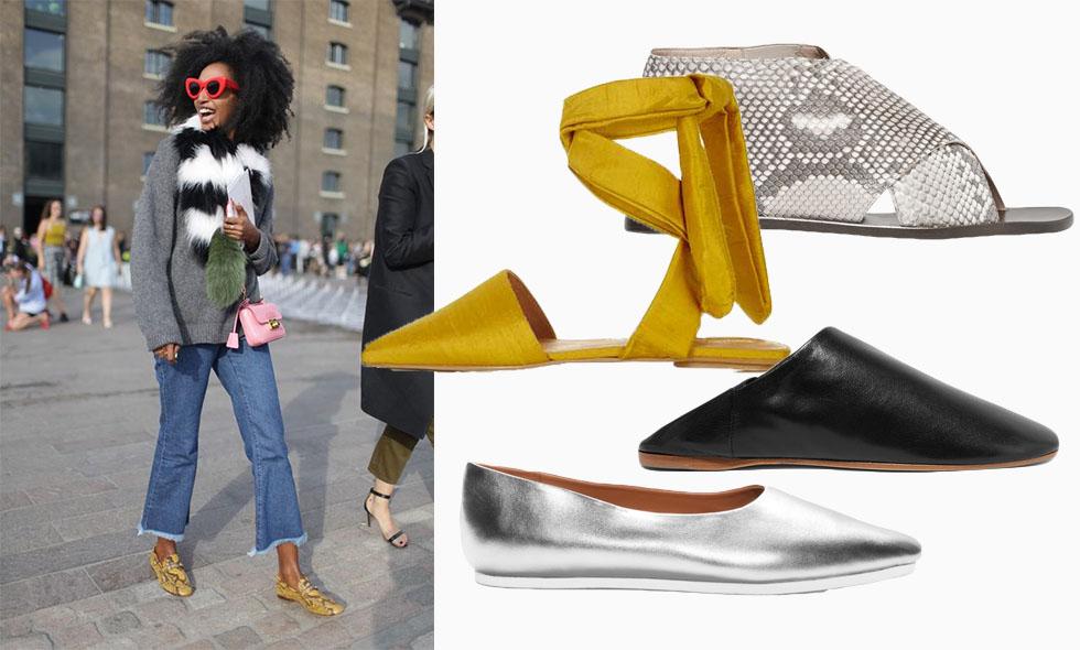 Ballerinaskor, sandaler, flats – 18 snyggaste platta skorna våren 2016