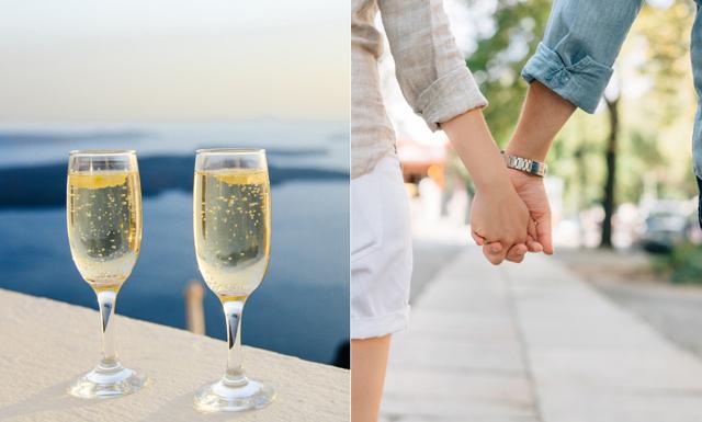 Forskning: Par som tar ett glas tillsammans då och då är lyckligare
