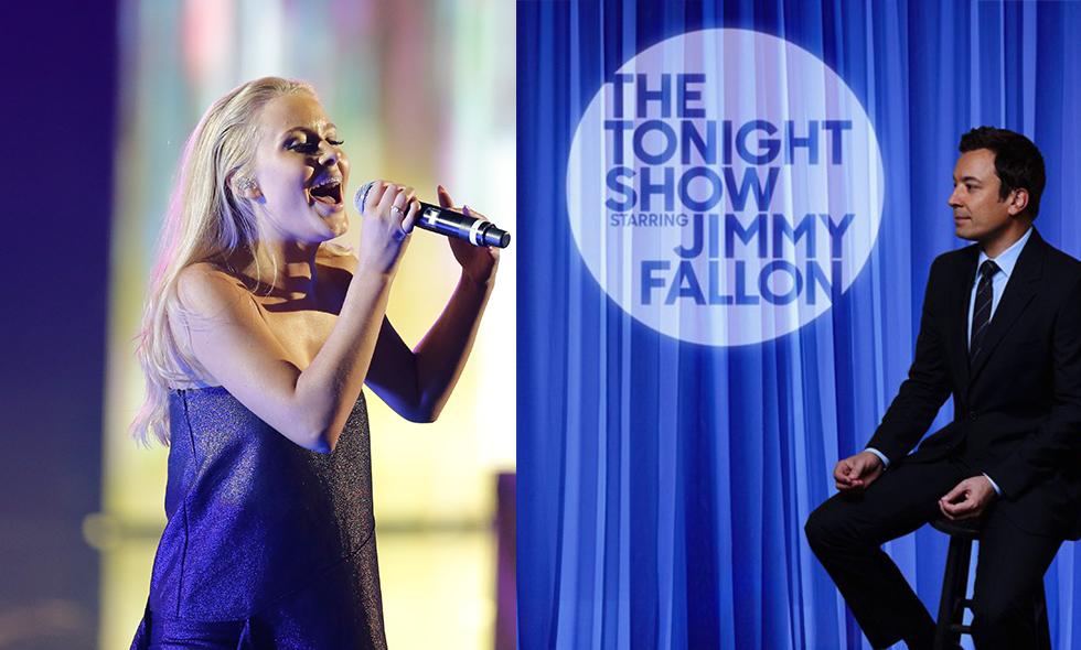 jimmy fallon zara larsson the tonight show talkshow usa