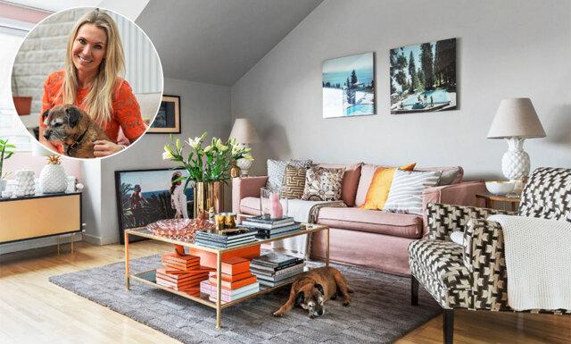 Hemma hos Andrea Brodin – färgsprakande och osvensk art déco
