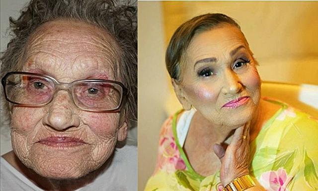 80-åringen som ger contouring ett helt nytt ansikte