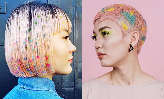 Nya hårtrenden Hair Stenciling – sockersött och färgglatt