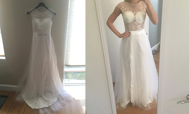 8 anledningar till att inte köpa din bröllopsklänning på nätet
