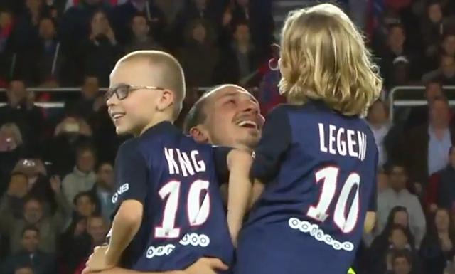 Zlatan Ibrahimovic i tårar efter sönernas vackra hyllning