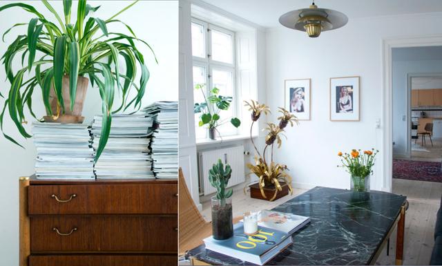Designklassisker och originella detaljer samsas i Köpenhamns finaste tvåa