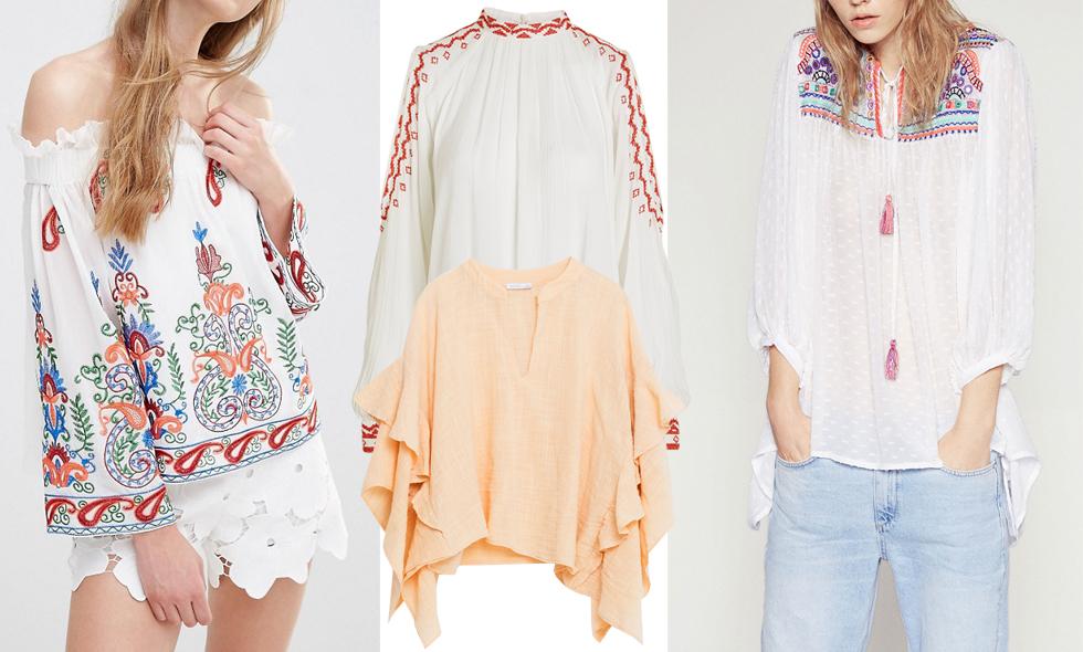 8 söta bohemiska blusar vi vill bära i sommar