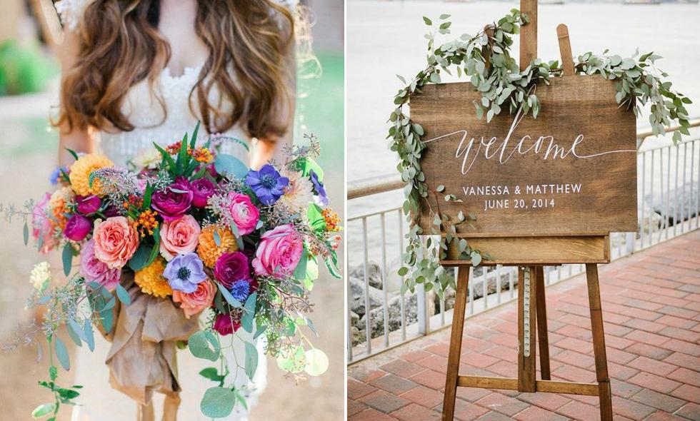Färgstarkt och trädetaljer – sommarens 7 största bröllopstrender
