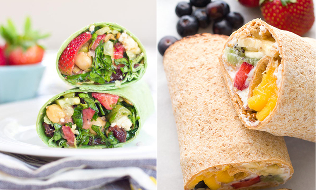 4 goda fruktwraps – till frukost, lunch och dessert