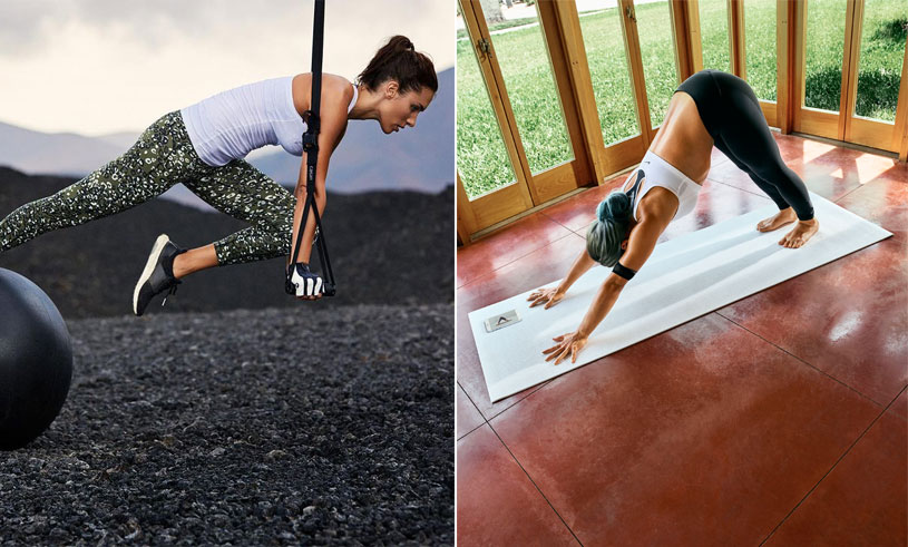 Här de 5 bästa träningsapparna för dig som vill yoga, styrke- och konditionsträna hemma
