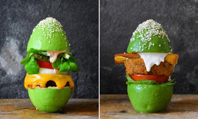 Hamburgare 2.0 – burgare med avokado-bröd