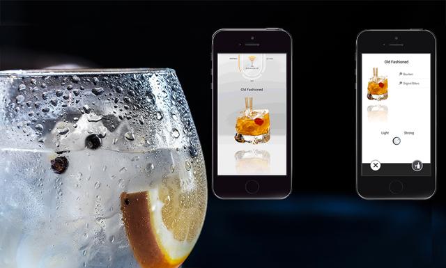 Nya köksmaskinen som gör drinkar på sekunden via en app