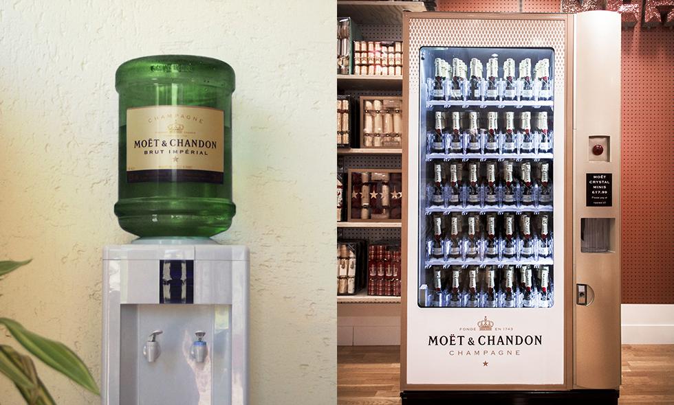 fredags bubbel varuautomat champagne