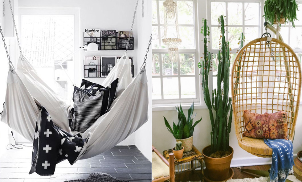 15 inspirerande sätt att inreda med hängmatta och hängstol inomhus i höst