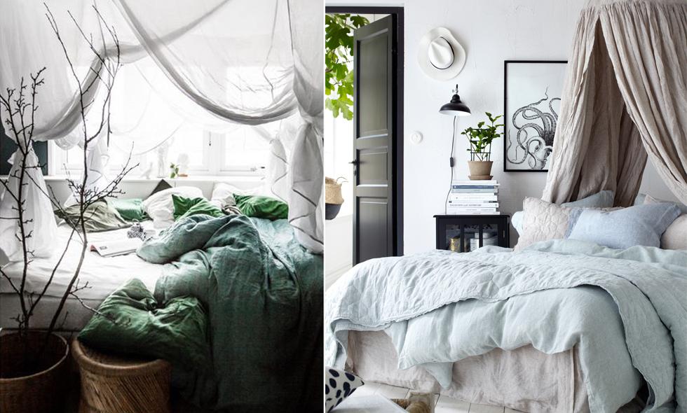 13 sätt att förändra ditt sovrum med en drömmig sänghimmel