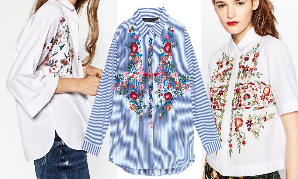 Skjortor med blommigt motiv – 4 snygga modeller för hösten 2016