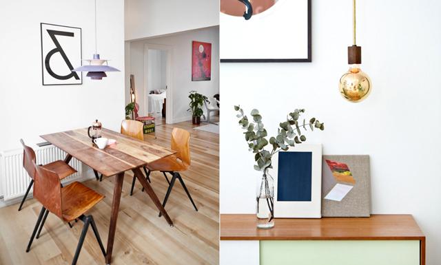Industriella inslag och originella detaljer i  designduons stilsäkra hem