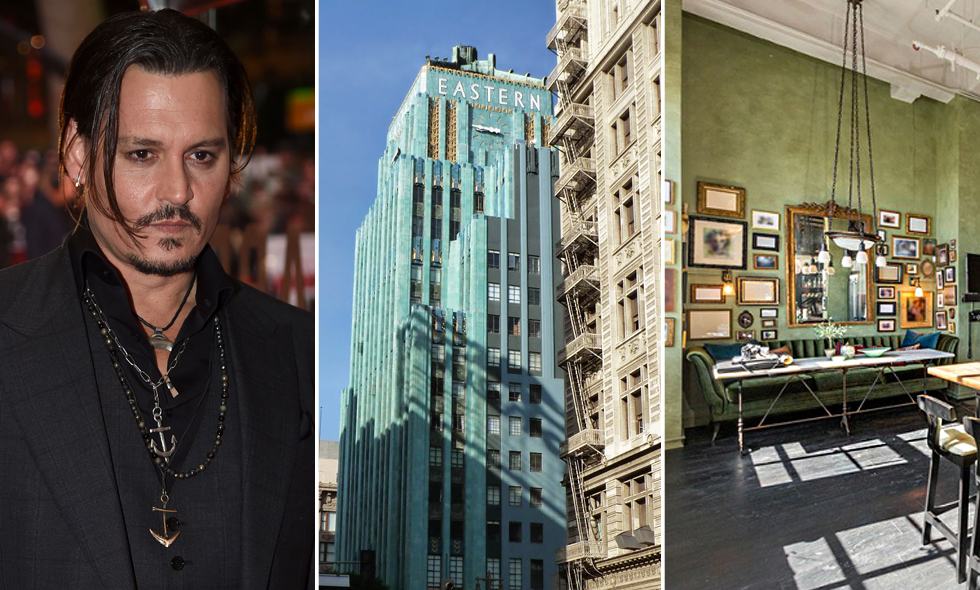 Johnny Depps art deco-våning i Los Angeles