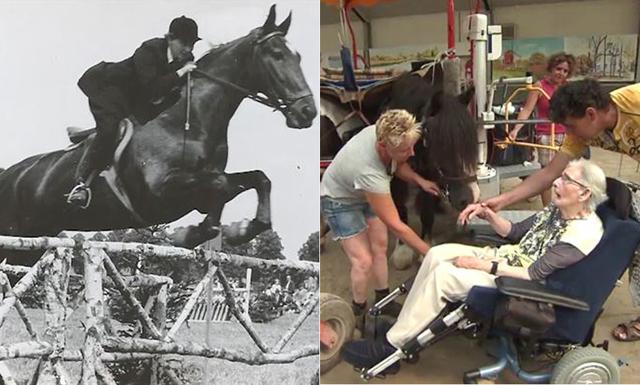 87-åringen får sin sista önskan uppfylld – att komma upp på hästryggen