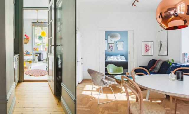 Veckans hem: 64 kvadratsmarta meter i lekfull stil
