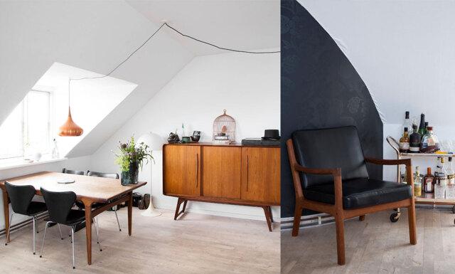 Veckans hem: Smarta lösningar och livfull inredning i takvåningen i Köpenhamn