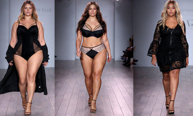 Fantastiska kurvor fick ta plats på New York Fashion Week