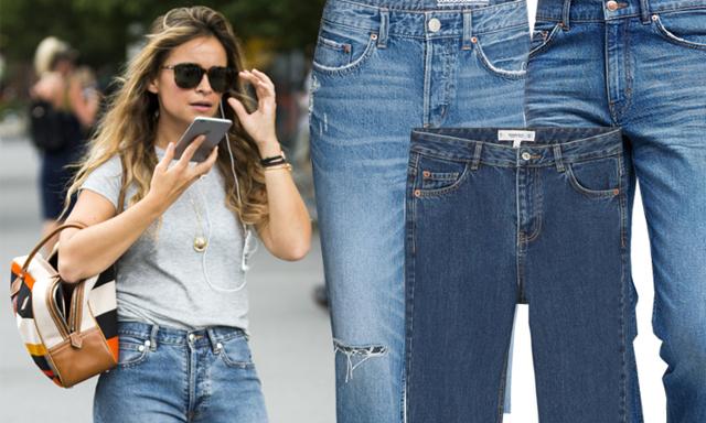 Säg hej då till stuprörsjeansen, nu är det mom-jeans och boyfriend-jeans som gäller!