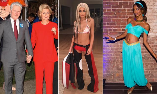 Hilary Clinton, enhörning och varmkorv - här är kändisarnas bästa utklädnader