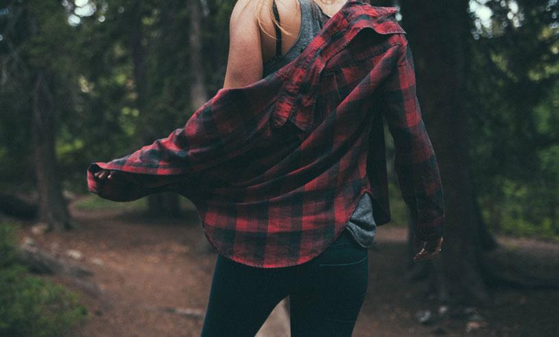 skog promenad