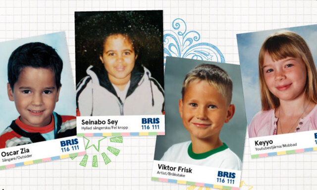 BRIS idolkortskampanj inkluderar flera välkända ansikten och en film!