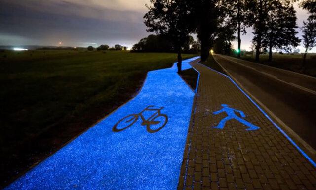 Dra till Polen och testa den självlysande cykelbanan!