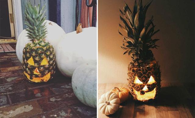 Glöm halloween-pumpan - i år dekorerar vi med ananas