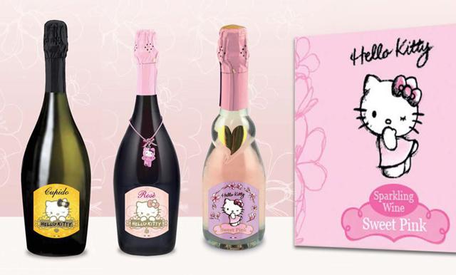 Släpp allt - nu finns det rosa Hello Kitty-vin!